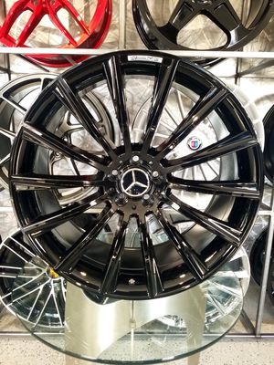19x8.5 gloss black Mercedes amg style wheels fits s class and e class rims for Sale in Tempe, AZ