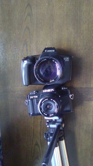 Canon EOS 650 & Minolta X7A with Lenses BOTH WORKING for Sale in Plano, TX