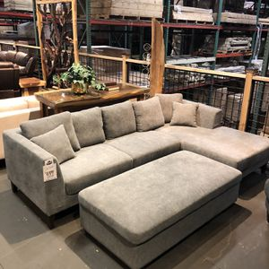 New & In Stock! Light Grey Sofa & Chaise $699! Available In Dark Grey, Light Grey, & Beige! Add Storage Ottoman For $199! for Sale in Vancouver, WA