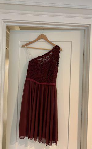 David's Bridal Dress - Style / F15711 - Color / Wine - Size / 4 for Sale in Kirkland, WA
