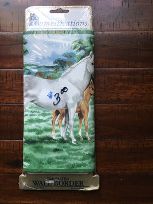 Vintage horse wallpaper border for Sale in Bakersfield, CA