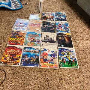 Wii With 15 Games (games In Description) for Sale in Redondo Beach, CA