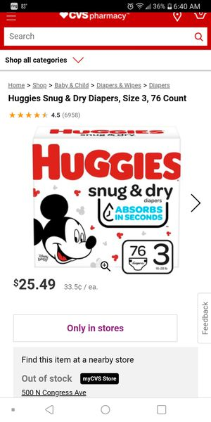 Huggies size 3 for Sale in Austin, TX