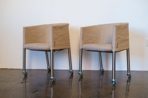 Pair of Flexform Mixer Rolling Chairs for Sale in Los Angeles, CA