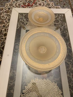 Beautiful gold fruit plates for Sale in Beverly Hills, CA