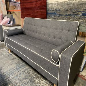 SPL Sofa Bed / Futon with Pillows, Gray for Sale in Huntington Beach, CA