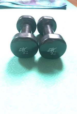 Three pound dumbbells for Sale in Philadelphia, PA