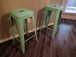 Metal Bar Stools - 2pc Set for Sale in Austin, TX
