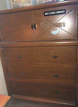 Vintage cherry wood dresser antique for Sale in Anaheim, CA