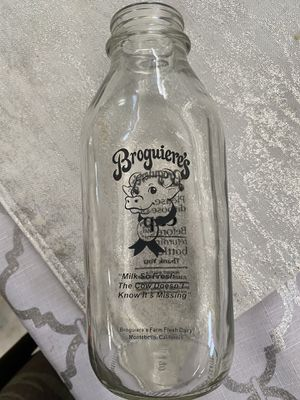 Antique glass milk bottle for Sale in Rancho Cucamonga, CA
