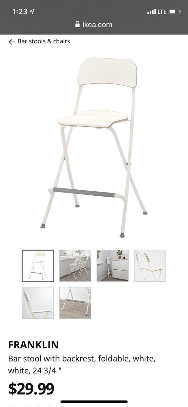 IKEA folding bar stools