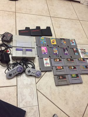 Super Nintendo and Super Nintendo games for Sale in Garland, TX