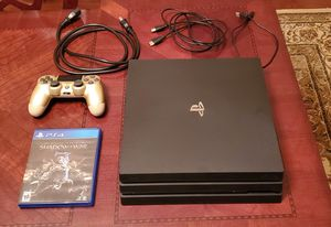 PS4 Playstation 4 Pro 1 TB with game (firm price) for Sale in Chantilly, VA
