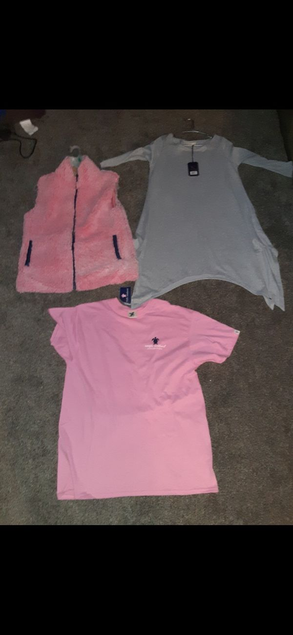 Womens simply southern vest, shirt,and dress