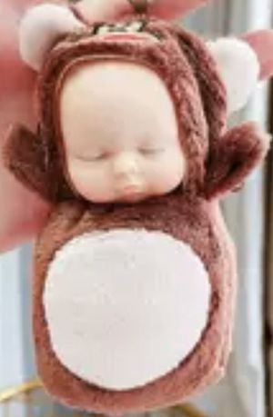 SMALL EASTER BASKET lil MONKEY BABY DOLL for Sale in Macomb, MI