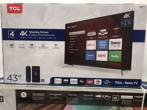 "43"" TCL 4K Roku Smart TV for Sale in Los Angeles, CA"