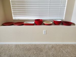 Red dishes/kitchenware/ bakeware for Sale in Glendale, AZ