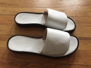 Rag & Bone white leather slides sz 40 for Sale in Denver, CO