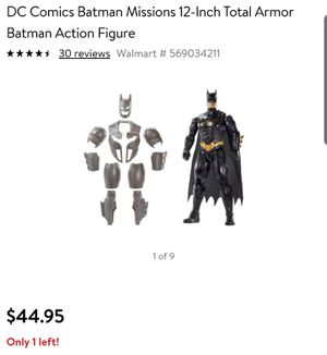 NEW* DC Comics Total Armor Batman Action Figure for Sale in Grand Prairie, TX