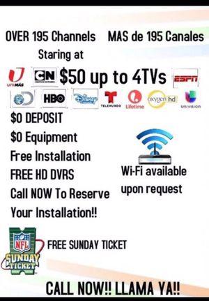 ‼️📡🖥 Cable Gratis, Equipo Gratis $0 Deposito 📡🖥‼️ for Sale in San Antonio, TX