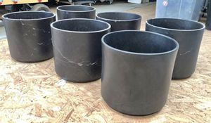 Set of 6 New Gainey AC-12 Planters Matte Black for Sale in Santa Monica, CA