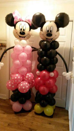 Balloon decor Minnie and Mickey $85.00 each for Sale in McDonough, GA