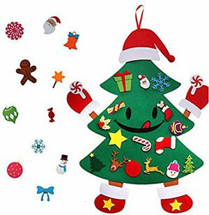 KERIQI DIY Felt Christmas Tree for Kids, Smiley 3ft Christmas Tree with 30pcs Detachable Ornaments Unique Hands and feet Design for Xmas for Sale in Hawthorne, CA