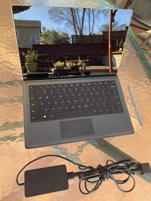 Microsoft Surface Pro tablet computer 128GB i5 Win 10 with keyboard/pen/adapter for Sale in Castro Valley, CA