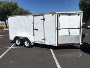 Ride on Ride off 6 x 14 + V- nose enclosed trailer for Sale in Chandler, AZ