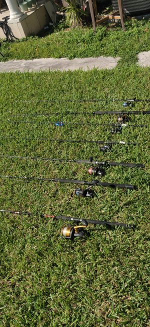 Penn fishing reels and rods all for bulk price for Sale in Miami Gardens, FL