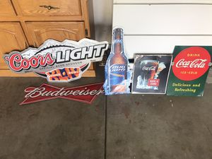 Beer and Coca Cola signs for Sale in Elk Grove, CA