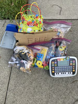 Free toys for baby and kids, animals, Shapes, letters, 1 car,small cars, and learning toys! for Sale in Roseville, CA