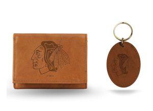 Chicago Blackhawks Genuine Leather Wallet & Key Fob for Sale in Glen Ellyn, IL