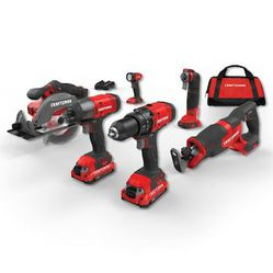 Craftsman 20v 6pc cordless power tool set with soft case for Sale in Wichita,  KS
