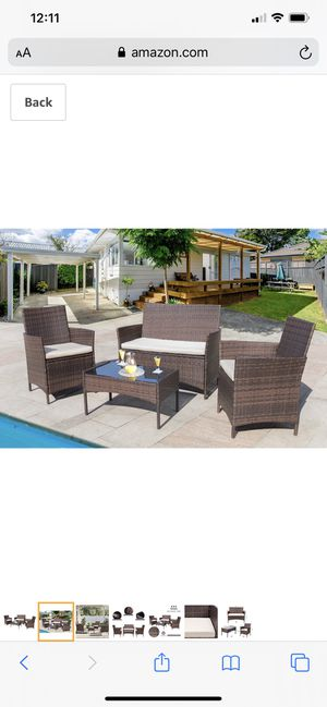 Outdoor patio set furniture wicker backyard waterproof sectional sofa table for Sale in Corona, CA