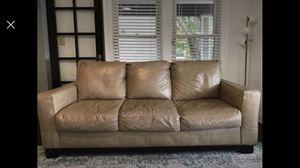 Tan Leather Sofa for Sale in Berwyn, IL