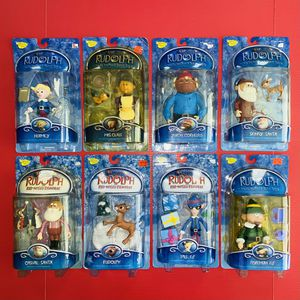 10 Rudolph Red-Nosed Reindeer Island Misfit Toys Figurines - Vintage Action Figure Holiday Snow Memory Lane Christmas Playing Mantis Santa Claus Elf for Sale in Brea, CA
