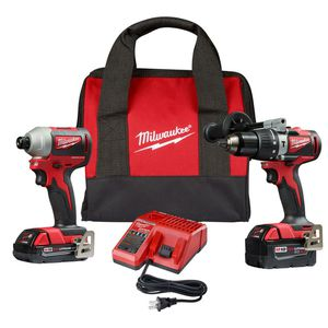 MILWAUKEE M18 18-VOLT LITHIUM-ION BRUSHLESS CORDLESS HAMMER DRILL/IMPACT COMBO KIT (2-TOOL) WITH 2 BATTERIES, CHARGER AND BAG for Sale in North Riverside, IL