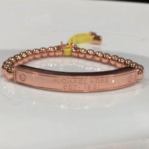 Mk Michael kors rose gold tone beads bracelet for Sale in Silver Spring, MD