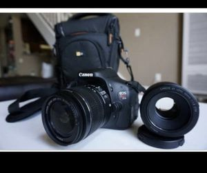 Canon EOS Rebel T3i Digital SLR Camera Kit with TWO lenses! for Sale in Culver City, CA