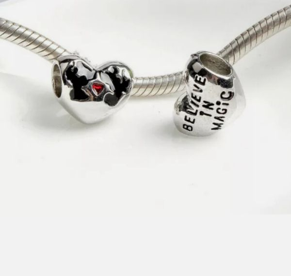 Mickey and Minnie Mouse Charm Bead