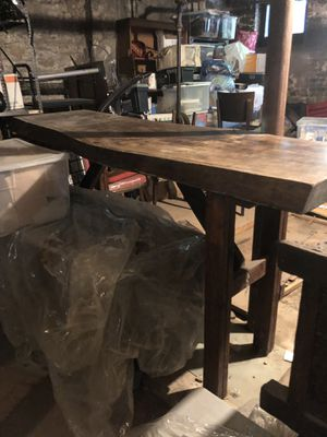 Custom-made solid wood walnut table for Sale in Brooklyn, NY