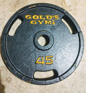 Gold's Gym 45lb Barbell Weights (4 total) for Sale in San Antonio, TX