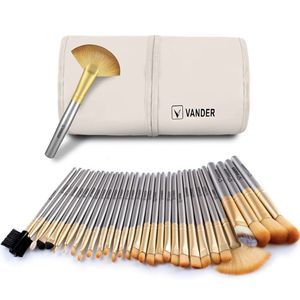 NEW - 32 pc Makeup 💄 Brush Set - Champagne Color for Sale in Bakersfield, CA