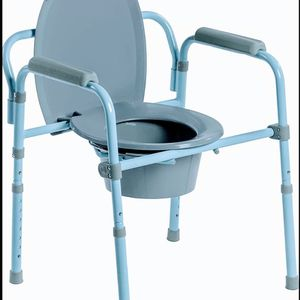 Blue Steel Frame Commode Portable Toilet Stability Support Bars - injury, disability, senior for Sale in Portland, OR