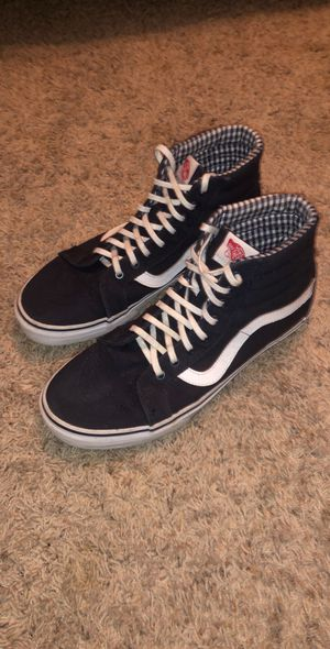 Authentic vans old school highs navy blue for Sale in Chandler, AZ