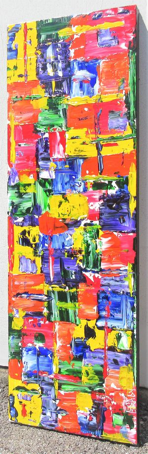 36x12 ORIGINAL SIGNED PAINTING. STRETCHED CANVAS AND READY TO HANG EITHER WAY! for Sale in Cincinnati, OH