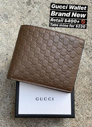 Brown Leather Gucci Wallet - Brand New for Sale in Pacifica, CA