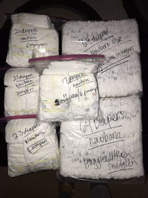 Pampers diapers NEWBORN (214 total) $20 for Sale in Orange, CA