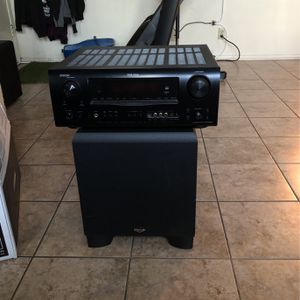 Zenón Receiver And Klipsch Subwoofer for Sale in Newhall, CA